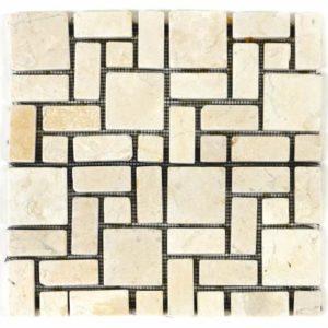 Mramorová mozaika DIVERO krémová
