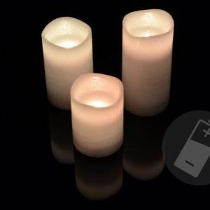 Dekorativní LED voskové svíčky