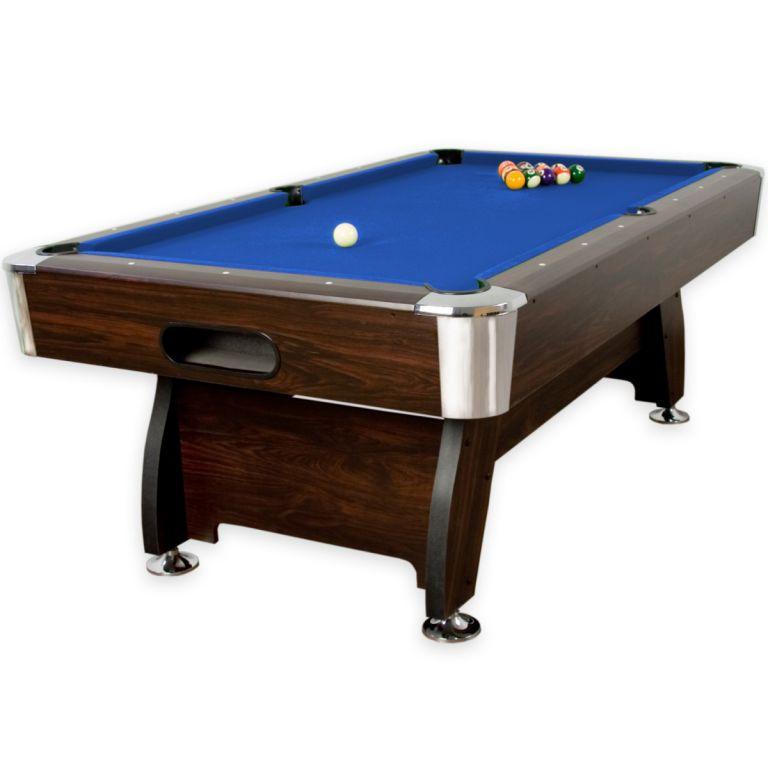 Domácí kulečníkový stůl pool billiard 7 ft, modrý