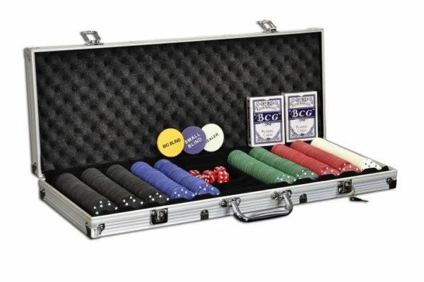 Pokerový set - 500 ks žetonů s příslušenstvím