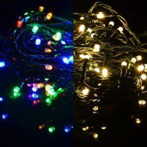 Vánoční světelný řetěz 400 LED blikající