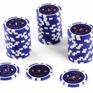 Modrý kusový žeton na poker Ultimate Hodnota 10
